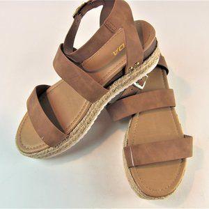 SODA Top Shoe Bryce Open Toe Buckle Ankle Strap 11